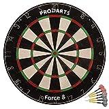 ProDarts Dartscheibe Foarce 8 - Aus hochwertigen A-Klasse Sisal Bristles - Extra dünne Drahtränder - 451 x 38 mm - Gratis-Geschenk: Darts + Regelheft + Montagesatz