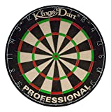 Kings Dart Sisal Bristle Professional Dartscheibe, Durchmesser: 45 cm