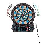 aspiria Elektronisches Dart-Set/für max. 16 Spieler; 27 Spiele mit 159 Variationen (Blau)